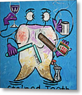 Stained Tooth Metal Print by Anthony Falbo