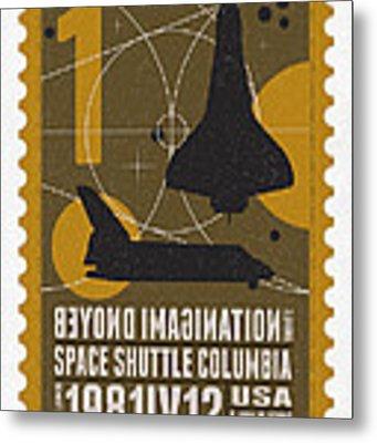 Starschips 01-poststamp - Spaceshuttle Metal Print