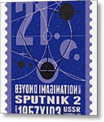 Starschips 21- Poststamp - Sputnik 2 Metal Print