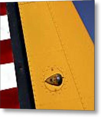 Tail Detail Of Vultee Bt-13 Valiant Metal Print