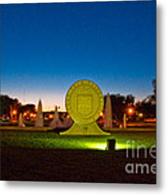 Texas Tech Seal At Night Metal Print by Mae Wertz