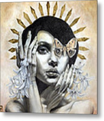 The Abyss Gazes Back Metal Print by Patricia Ariel