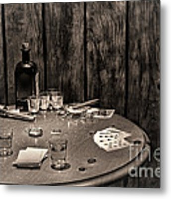 The Gambling Table Metal Print by Olivier Le Queinec