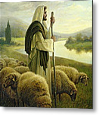 The Good Shepherd Metal Print by Greg Olsen