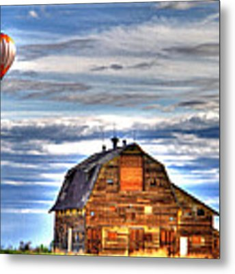 The Old Barn And Balloon Metal Print by Scott Mahon