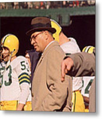 Vince Lombardi In Trench Coat Metal Print by Retro Images Archive