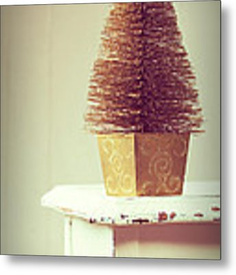 Vintage Christmas Treee Metal Print by Amanda Elwell