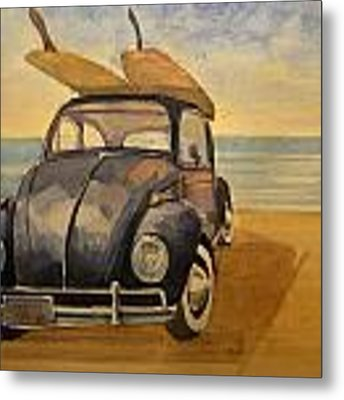 Volkswagen Beetle Metal Print by Juan  Bosco