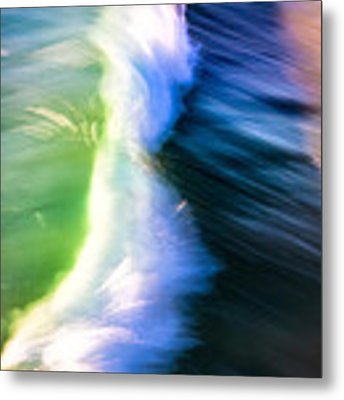 Wave Abstract Triptych 2 Metal Print by Brad Brizek