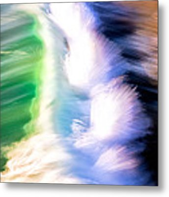 Wave Abstract Triptych 3 Metal Print by Brad Brizek