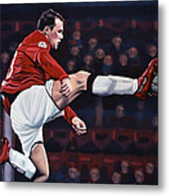 Wayne Rooney Metal Print by Paul Meijering