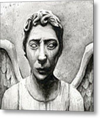 Weeping Angel Don't Blink Doctor Who Fan Art Metal Print