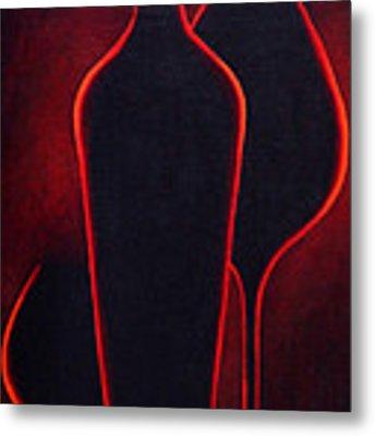 Wine Glow Metal Print by Sandi Whetzel