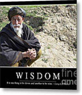 Wisdom Inspirational Quote Metal Print by Stocktrek Images