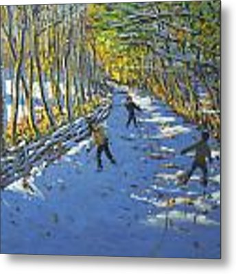 Yellow Trees  Allestree Park Metal Print