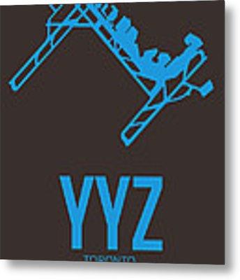 Yyz Toronto Airport Poster 2 Metal Print by Naxart Studio