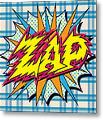 Zap Metal Print by Gary Grayson