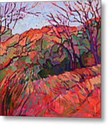 Zion Flame Metal Print by Erin Hanson