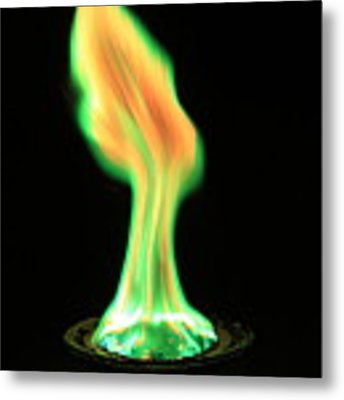 Copperii Chloride Flame Test Metal Print
