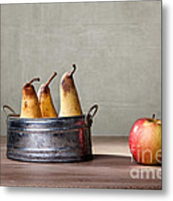 Apple And Pears 01 Metal Print by Nailia Schwarz