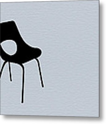 Black Chair Metal Print by Naxart Studio