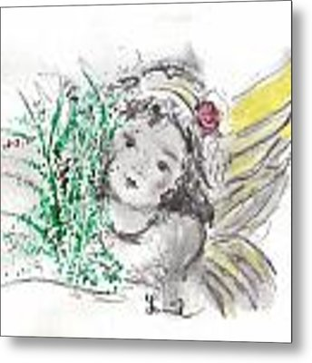 Christmas Angel Metal Print by Laurie Lundquist