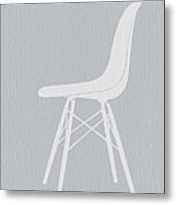 Eames Fiberglass Chair Metal Print by Naxart Studio