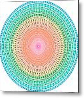 Multicolor Circle Metal Print