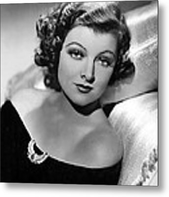 Myrna Loy By Clarence Sinclair Bull Metal Print by Everett