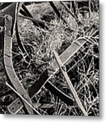 No More Plowing Metal Print by Ron Cline