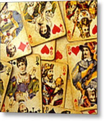 Old Playing Cards Metal Print by Garry Gay