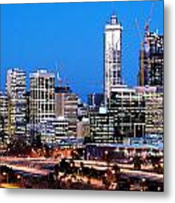 Perth City Night View From Kings Park Metal Print by Yew Kwang