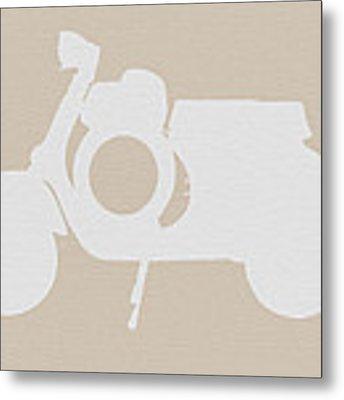 Scooter Brown Poster Metal Print by Naxart Studio