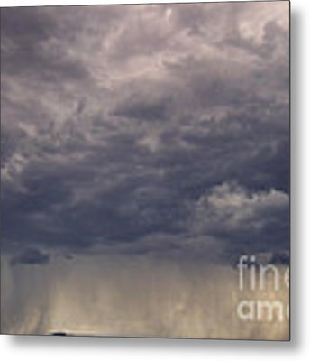 Storm Over The Mesa Metal Print by Ron Cline