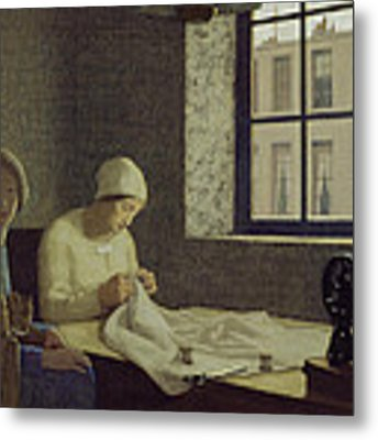 The Old Nurse Metal Print by Frederick Cayley Robinson