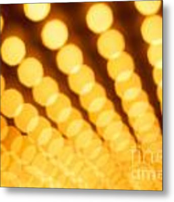 Theater Lights In Rows Defocused Metal Print by Paul Velgos