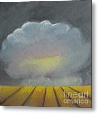 Storm Above The Wheat Field Metal Print by Vesna Antic