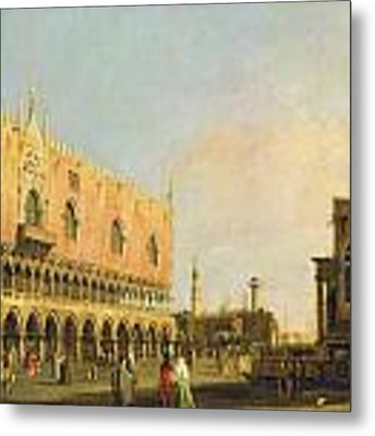 View Of The Piazzetta San Marco Looking South Metal Print