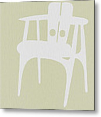 Wooden Chair Metal Print by Naxart Studio