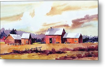Vermillion View Metal Print by Art Scholz