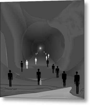 249 - The Light At The End Of The Tunnel   Metal Print by Irmgard Schoendorf Welch