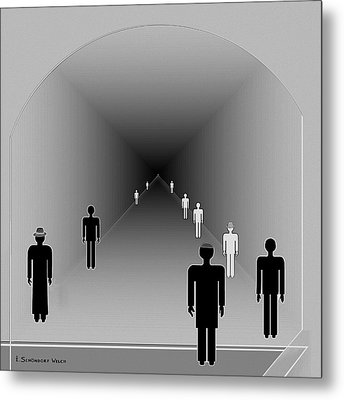 251 - Is There Hope  At The End Of The Tunnel    Metal Print by Irmgard Schoendorf Welch