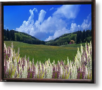 Metal Print featuring the photograph  A Beautiful View by Bernd Hau