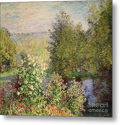 A Corner Of The Garden At Montgeron Metal Print by Celestial Images