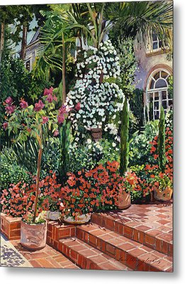 A Garden Approach Metal Print by David Lloyd Glover
