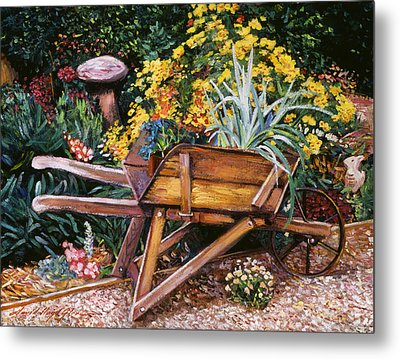 A Gardener's Helper Metal Print by David Lloyd Glover