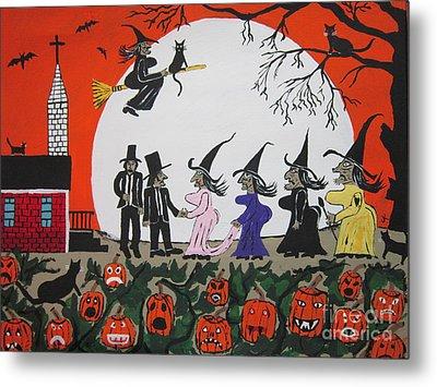 A Halloween Wedding Metal Print by Jeffrey Koss