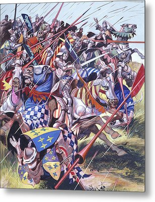 Agincourt The Impossible Victory 25 October 1415 Metal Print by Ron Embleton
