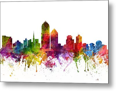Albuquerque Cityscape 06 Metal Print by Aged Pixel