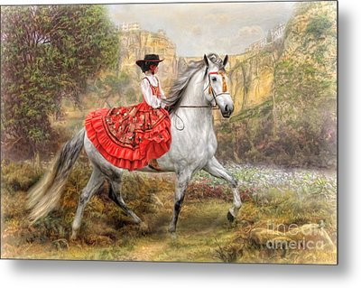 Metal Print featuring the digital art  Andalusia by Trudi Simmonds